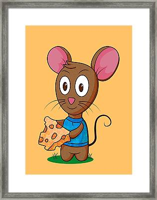 Twitch The Mouse Framed Print by Ruth Moratz