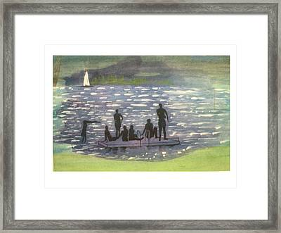 Twlight Swim  Framed Print by Hal Newhouser