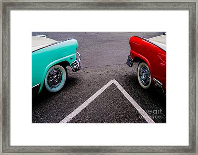 Framed Print featuring the photograph Two 1958 Ford Crown Victorias by M G Whittingham