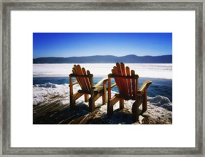 Two Adirondack Chairs  Framed Print