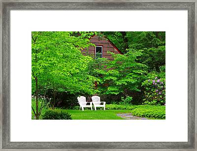 Two Adirondacks Framed Print