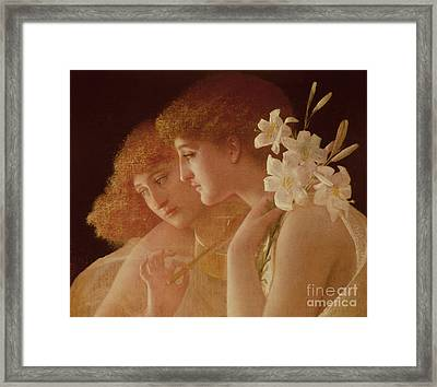 Two Angels Framed Print by Charles Francois Sellier