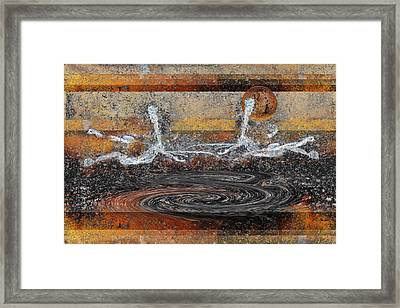 Framed Print featuring the digital art Two Another World by rd Erickson
