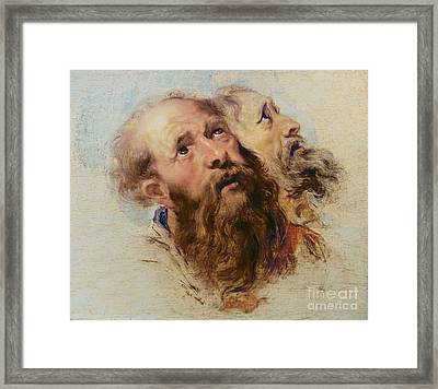 Two Apostles Framed Print by Rubens