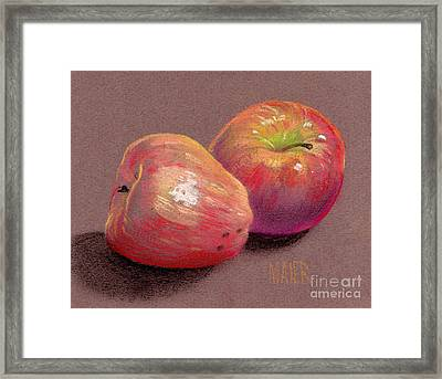 Two Apples Framed Print by Donald Maier