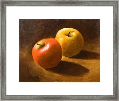 Two Apples Framed Print by Joni Dipirro