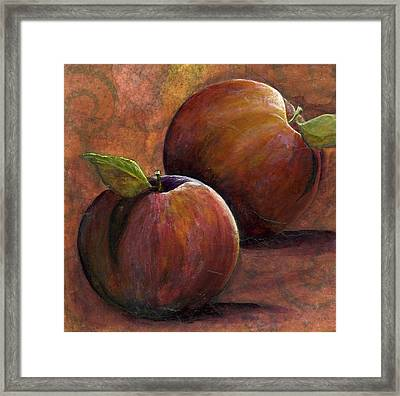 Two Apples Framed Print by Sandy Clift