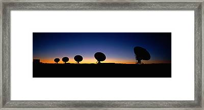 Two Arraysatellite Dishes In Different Framed Print