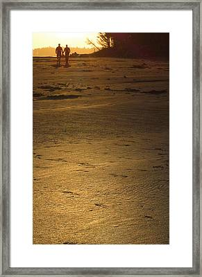 Two At Sunset Framed Print