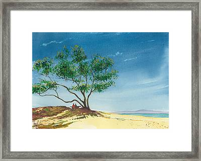 Two At The Beach Framed Print by Ray Cole