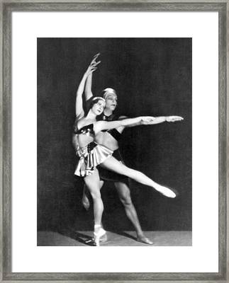 Two Ballet Dancers Framed Print by Underwood Archives