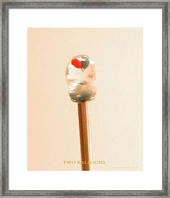 Two Balloons Framed Print by Phillip H George