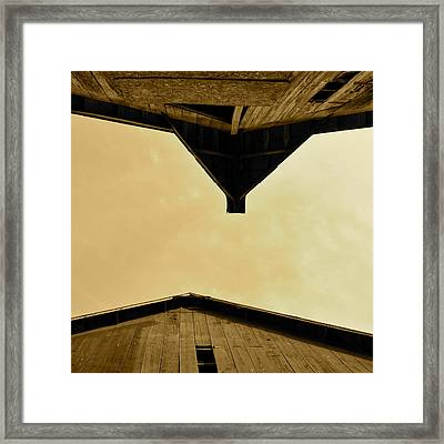Two Barns In Sepia Framed Print