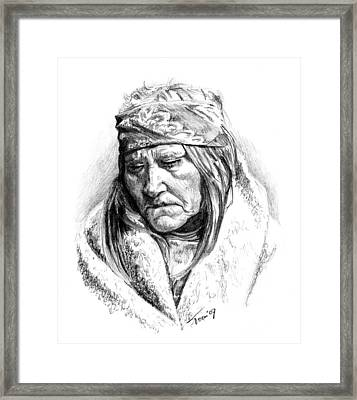 Two Bear Woman Framed Print