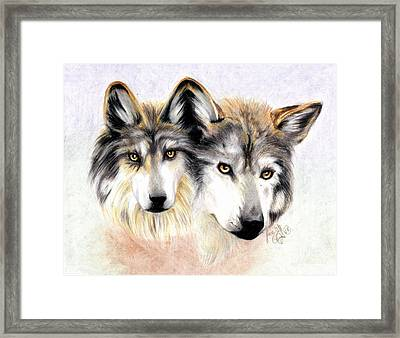 Two Become One Framed Print by Scarlett Royal
