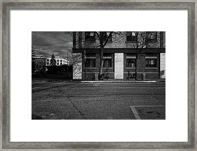 Two Benches One Empty Framed Print by Bob Orsillo