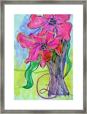 Two Big Pink Blooms Framed Print
