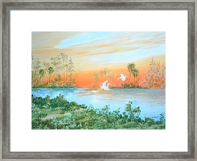 Two Birds Framed Print by Dennis Vebert