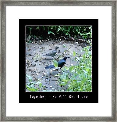 Framed Print featuring the photograph Two Birds Pink by Felipe Adan Lerma