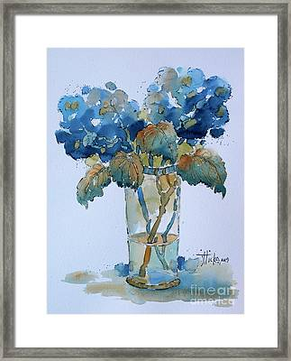Two Blue Hydrangea Framed Print