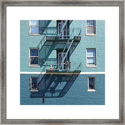 Two Blues Framed Print