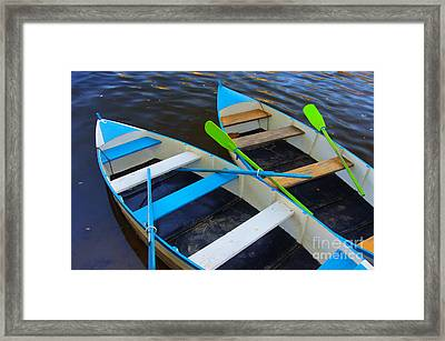 Two Boats Framed Print by Carlos Caetano