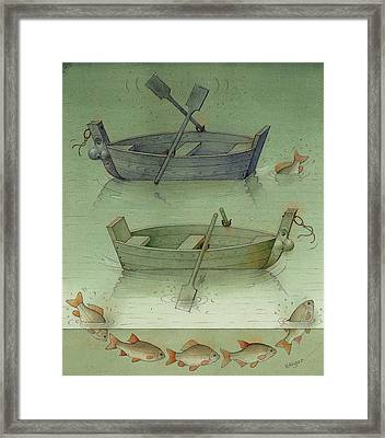 Two Boats Framed Print by Kestutis Kasparavicius