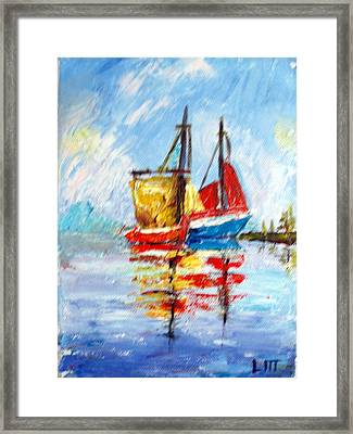 Two Boats Framed Print by Lia  Marsman