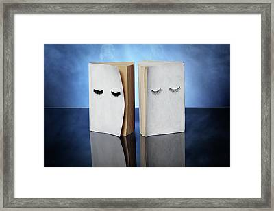Two Books About Dreams Framed Print by Floriana Barbu
