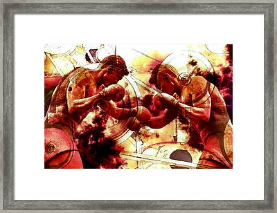 Two Boxer Statues Poster Fine Art Framed Print by John Williams