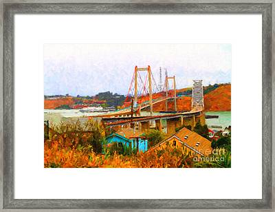 Two Bridges In The Backyard Framed Print by Wingsdomain Art and Photography