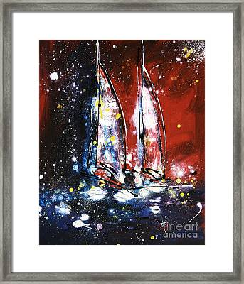 Two By Moonlight Framed Print