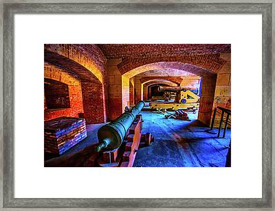 Two Cannons Framed Print