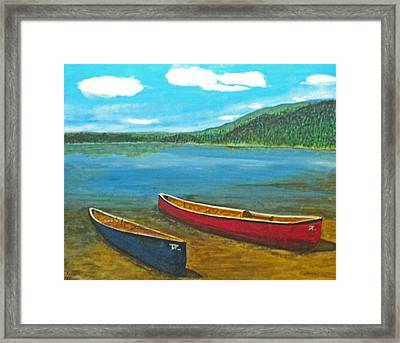 Two Canoes Framed Print