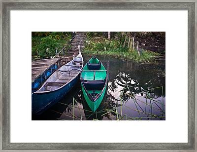 Two Canoes Framed Print by Douglas Barnett