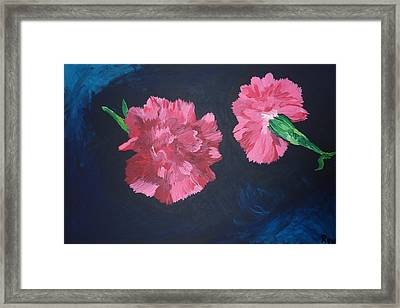 Two Carnations Framed Print by Joshua Redman