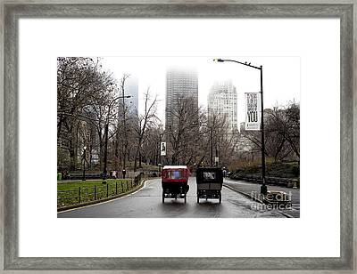 Two Carriages Framed Print by John Rizzuto