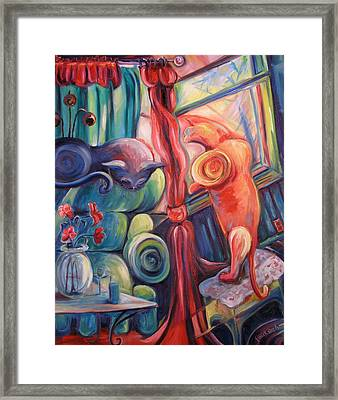 Two Cats Framed Print by Jenna Fournier