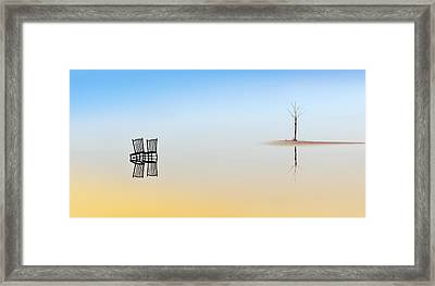 Two Chairs And A Tree Framed Print by Juan Luis Duran