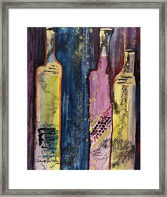 Two Chards And A Zin Framed Print by Diana Wade