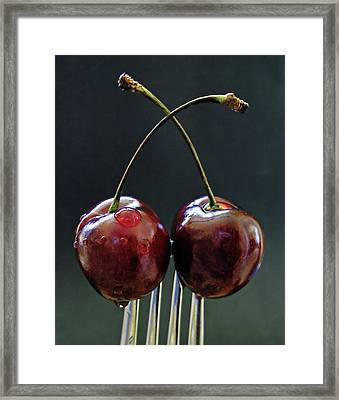 Two Cherries Are Better Than One Framed Print by Maggie Terlecki