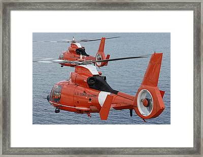 Two Coast Guard Hh-65c Dolphin Framed Print by Stocktrek Images