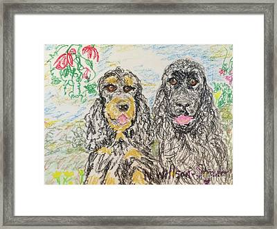 Two Cockers Framed Print by N Willson-Strader