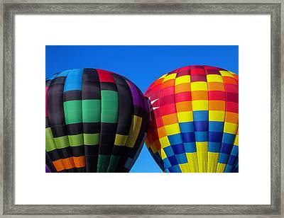 Two Colorful Balloons Framed Print