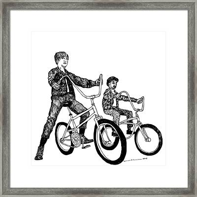 Two Cool Riders Framed Print