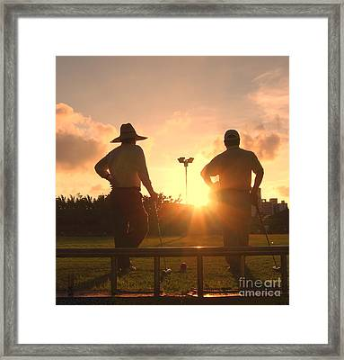 Two Croquet Players Framed Print by Yali Shi