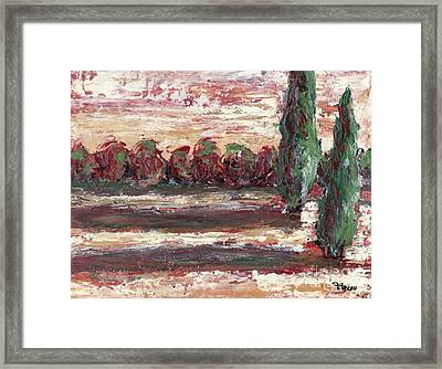 Two Cryprus Framed Print