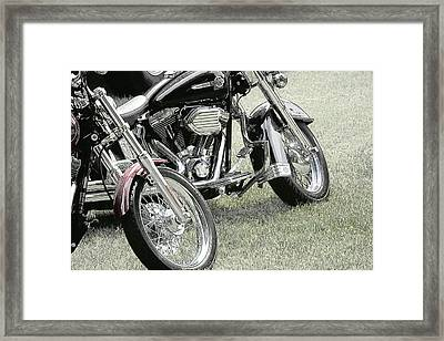 Framed Print featuring the photograph Two Cycles by John Hix