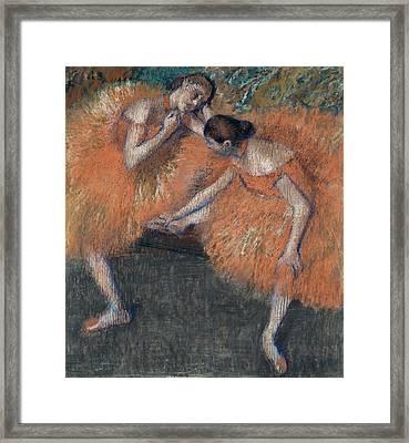 Two Dancers Around 1898 Framed Print by Edgar Degas