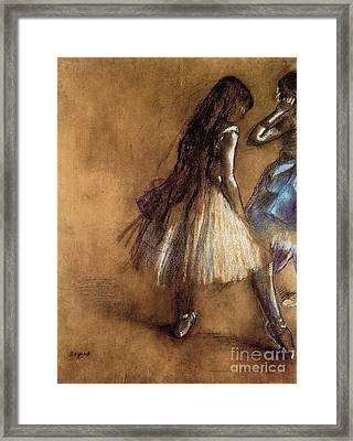 Two Dancers Framed Print